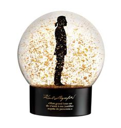 Decided this is so over the top ego that its great.  New Karl Lagerfeld Snow Globe (there's a doll too!) for Sephora.  Meant to go w/make-up collection at Sephora.  Mmmmmm.  Get yours in Singapore and Europe.