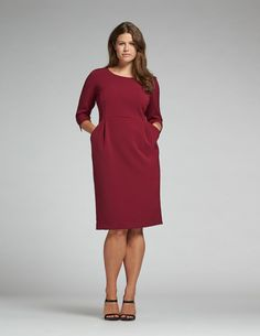navabi Jersey shift dress in Berry-Purple
