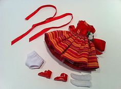 OUTFIT ONLY FROM TINY BETSY MCCALL CANDY APPLE BY TONNER