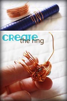 DIY Ring: How to Make a Bird's Nest Ring with Wire | DIY Rings