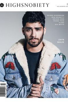Zayn Malik wearing Gucci F/W 16 Embroidered Denim Jacket