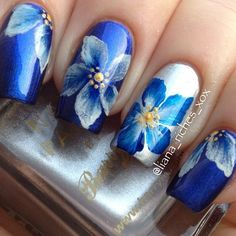 one stroke nail design