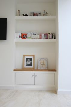 We design Bespoke Furniture for your Bedroom, Kitchen, Bathroom, and every room of your home. Alcove Ideas Living Room, Living Room Shelves, Living Room Storage, New Living Room, Living Room Furniture, Living Room Designs, Living Room Decor, Bedroom Alcove, Dining Room
