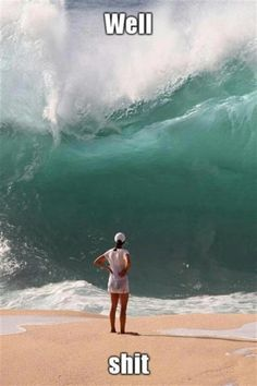 Need to learn to surf here! Waimea (North shore of Oahu) is known for its large waves and is a surfer's paradise Waimea Bay, Perfectly Timed Photos, Belle Photo, Laugh Out Loud, The Funny, I Laughed, Laughter, Funny Pictures, Hilarious Photos