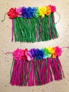 DIY baby hula skirts