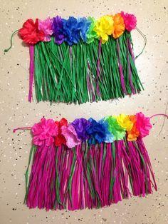 DIY baby hula skirts