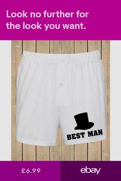Da Uomo Divertente Regalo Personalizzato Matrimonio Sposo Migliore Uomo Boxer