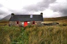 This is a bothy (cabin) in Scotland that I tried to hike off too, but it was a tad bit too far.