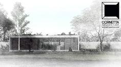 Projeto para casa de campo tipo loft pré-fabricada em concreto aparente. #cornetta #arquitetura #prefab #architecture #precast #premoldados #concretoaparente #concreto