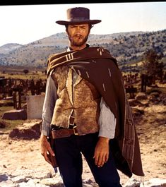 "Clint Eastwood as the ""Man With No Name"" (Sergio Leone's Dollars trilogy: A Fistful of Dollars; For a Few Dollars More; The Good, the Bad and the Ugly)"