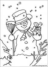 Christmas Coloring Pages On Book