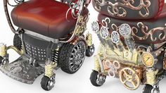 Details of Kyron's Steampunk Wheelchair