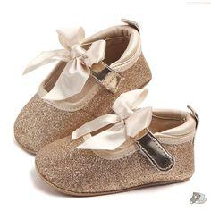cf6dc6b03c6 Gold Soft Sole Bling Bowknot Princess Shoes – Sleepy Cubs Baby Girl  Princess