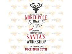 Northpole Santa Sack SVG EPS DXF JPG @creativework247
