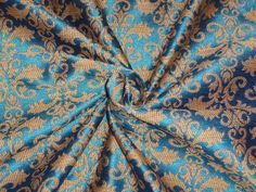 BROCADE FABRIC BLUE X LIGHT BROWN Fabric Names, Brocade Fabric, Beautiful Outfits, Jr, Brown, Clothing, Blue, Outfits, Brown Colors
