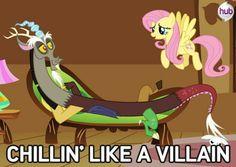 Chillin like a villain Fluttershy discord