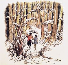 tygertale advent calendar 2016 - The Lion the Witch and the Wardrobe by C.S. Lewis, illustrated by Pauline Baynes