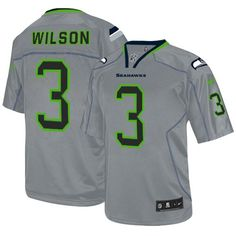 Get Official Youth Nike Seattle Seahawks 3 Russell Wilson Game Lights Out  Grey NFL Jersey From 4625d5b3e