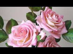 Rosa fácil de açúcar Fondant Flowers, Clay Flowers, Paper Flowers, Sugar Paste Flowers, Cake Decorating Videos, Make It Yourself, Crafty, Piping Tips, Cake Decorating Tutorials