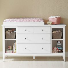 Baby Change Table With Chest Of Drawers & Shelves