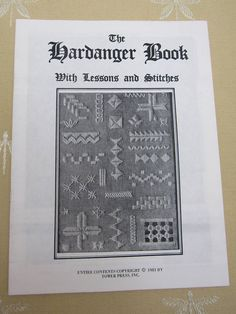 Vintage 1981 The Hardanger Book with Illustrated