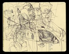 James Jean Chara, Ballpen Drawing, Artist Sketchbook, Urban Sketchers, Sketchbook Inspiration, Art Portfolio, Moleskine, Design Art, Illustration Art