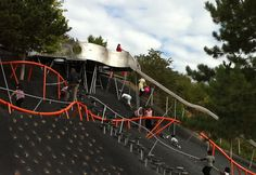 An awesome climbing hill and slide in France