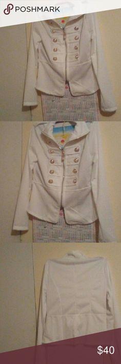 White zip up over jacket. Its brand new its never been worn. Rue 21 Jackets & Coats Blazers