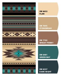 Paint colors from ColorSnap by Sherwin-Williams Western Paint Colors, Rustic Paint Colors, Rustic Color Palettes, Kitchen Paint Colors, Room Paint Colors, Paint Colors For Living Room, Interior Paint Colors, Paint Colors For Home, House Colors