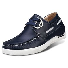Fashion blue height increasing driving shoes get taller 6cm / 2.36 inches casual shoe
