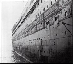 Titanic: Photo taken from passenger's Jake and Kate Odell. This pic is the side of the ship as the Odell's were leaving (via tender) to Queenstown.