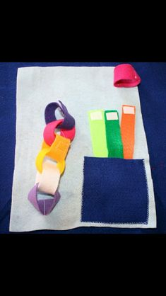 Easy to make no sew quiet book page