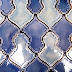 Hand made and hand painted tiles featuring tile types