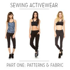 Sewing Ladies Clothes Sewing activewear with Melissa Fehr, part Fabric and patterns Sewing Hacks, Sewing Tutorials, Sewing Tips, Tutorial Sewing, Sewing Ideas, Sewing Patterns Free, Clothing Patterns, Fabric Patterns, Sewing Clothes