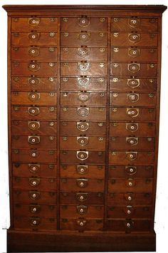 45 beautiful drawers !!   WOULD THIS BE AWESOME FOR MY CRAZY QUILTING STUFF....OR SCRAPBOOKING!!!!