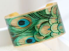Peacock!  I would love to have this cuff bracelet.  <3~R~<3