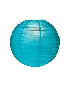"""Round Paper Lantern, Pool Blue 12"""" by Cultural Intrigue. $7.00. Great party décor. Easy ceiling décor for any room. Lanterns are a great way to add some interest to your cieling or a corner. This designer lantern has a lacy handmade paper with a floral eyelet pattern and wire ribbing. Eyelet perforations cast great shadows and can be very pretty when illuminated with colored light bulbs. This eyelet lantern can also be used on most ceiling fixtures."""