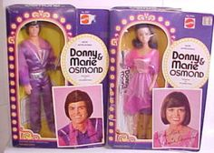 Donny & Marie Osmond barbie dolls