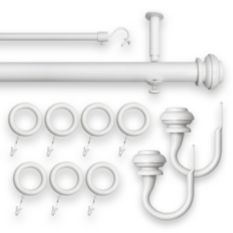 revel rod 144inch to 240inch adjustable rod set in white