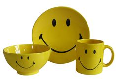 Smiley Bowl  Smiley Cup  Smiley Plate