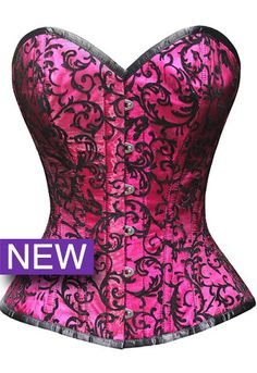 Fuchsia Pink! Steel Boned, Waist Training Pin-Up Burlesque corset   The Violet Vixen - Crushed Candy Fuschia Corset, $80.00 (http://thevioletvixen.com/corsets/crushed-candy-fuschia-corset/)