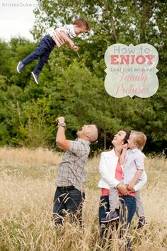 great ideas for enjoying your family photo session - not just surviving it!