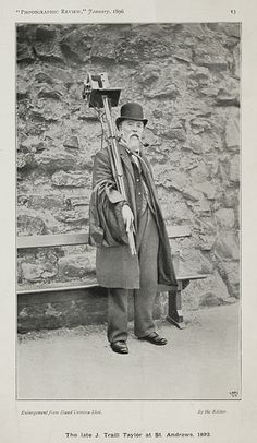 The late J. Traill Taylor at St. Andrews, 1892 by National Media Museum, via Flickr