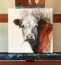 "Items similar to ""Hereford Beauty"" Gicleé print on Etsy Farm Paintings, Animal Paintings, Cow Paintings On Canvas, Watercolor Art Paintings, Painting Canvas, Cow Canvas, Cow Pictures, Farm Art, Cow Art"