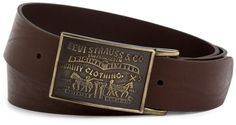 Levis Mens 38MM Plaque Bridle Belt With Snap Closure $19.99 Need this for my John Wayne belt buckle.