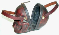 No how's that for a statement piece!!  And just what is the statement???  Skull Purse