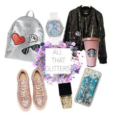 """Glitters"" by mony-nymo on Polyvore featuring Love Moschino, Dolce&Gabbana, The Gypsy Shrine, Forever 21, Witchery and GUESS"