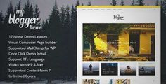 Download and review of Myblogger - Responsive WordPress Blog Theme, one of the best Themeforest Magazine & Blogs themes {Download & review at|Review and download at} {|-> }http://best-wordpress-theme.net/myger-responsive-download-review/
