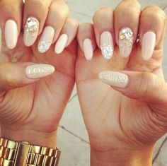 yes! crystals on top of nude peach