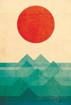 The ocean, the sea, the wave Art Print by Picomodi